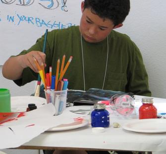 A Young Artist Painting