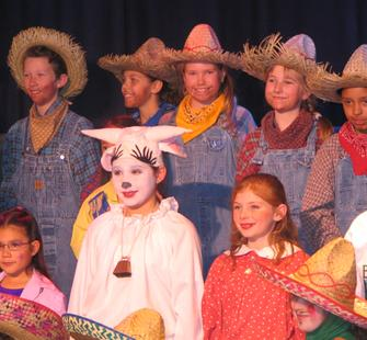 Cast from Jack and the Beanstalk, February 2006
