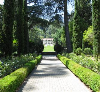 View of the historic Villa from the Italianate Garden