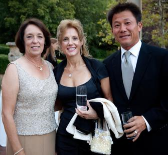 Board Vice President/Past President Charmaine  Warmenhoven, Eva Blanc and Tom Chin