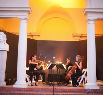 Sonus Quartet Performs in the Oval Garden