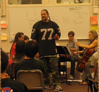 Double G speaks to Saratoga High students
