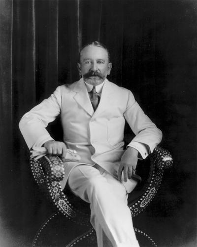 Senator Phelan in his best white suit