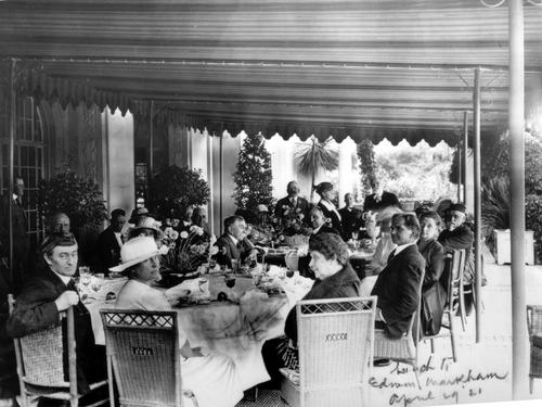 Lunch for Edwin Markham on April 29, 1921