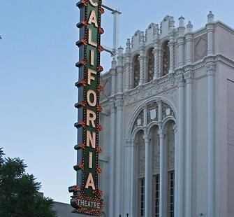The historic California Theatre in downtown San Jose