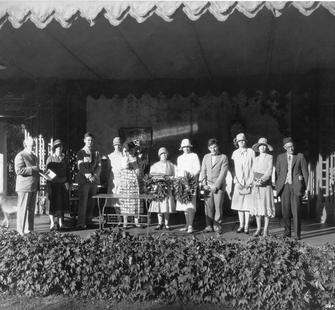 Awards Ceremony in the original Garden Theatre at Montalvo, 1926