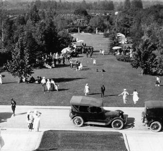 Party on Montalvo&#39;s Front Lawn, early 1920.