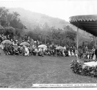 Reception for the Navy at Villa Montalvo, April 9, 1925