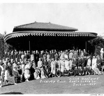 Group photo at Montalvo, July 12, 1925