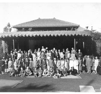 Group photo at Montalvo, September 18, 1926