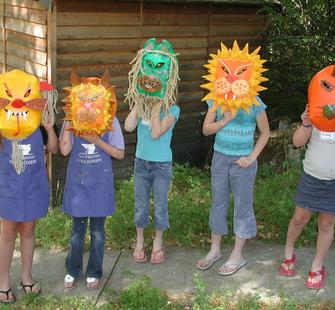Kids with Masks from around the world