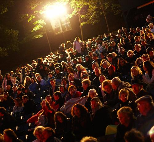 A beautiful night in the Garden Theatre