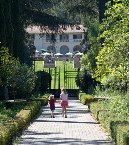 Young visitors enjoy a sunny day in the Italianate Garden.