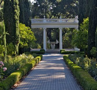 The Love Temple at the north end of the Italianate Garden.