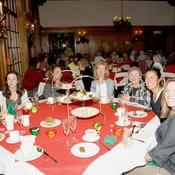 Guest are enjoying themselves at a Yuletide party!
