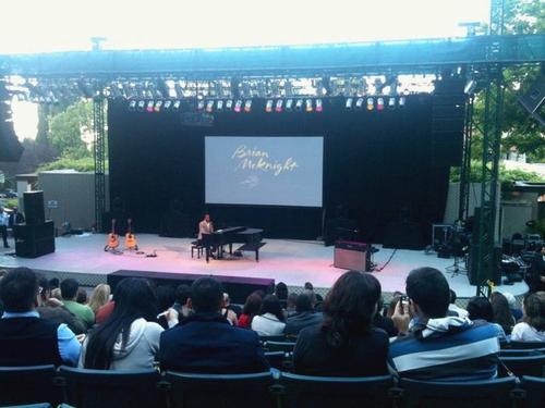 Brian McKnight performs in the Lilian Fontaine Garden Theatre