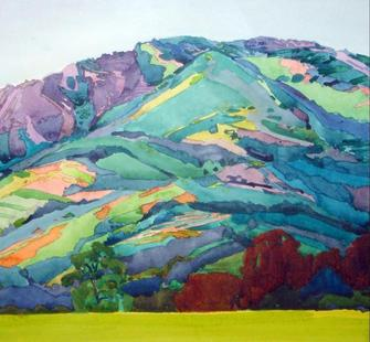 """The Mountain"" (watercolor, 2010) by Robin Purcell"