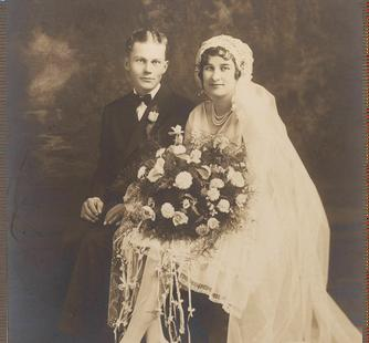 A vintage wedding photo.