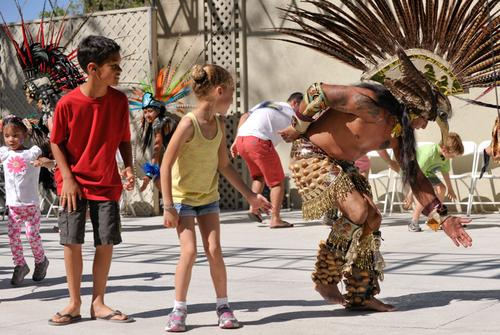 Aztec Dancers at Arts Splash