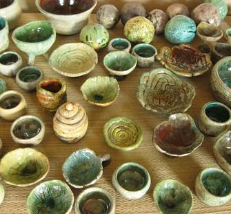 Hand-built pottery