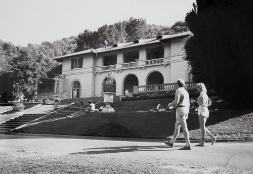 View of Montalvo's Historic Villa, 1985, photographer unknown. Montalvo Arts Center Archive.
