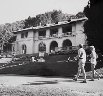View of Montalvo's Historic Villa, 1985, photographer unknown. Montalvo Arts Center Archive.