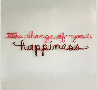 """take charge of your happiness"" (2011) by Christine Wong Yap"