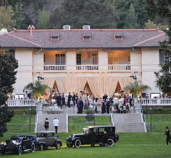 The historic Villa decorated for a Gala event!