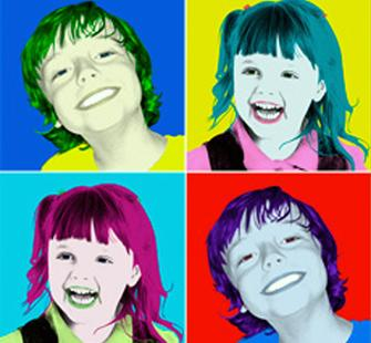 Kids can create Pop Art!