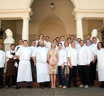 Angela McConnell with the chefs from Food & Wine X