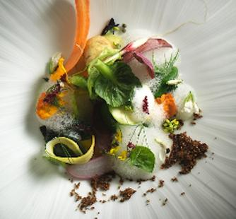 """Into the Vegetable Garden,"" created by David Kinch of Manresa"
