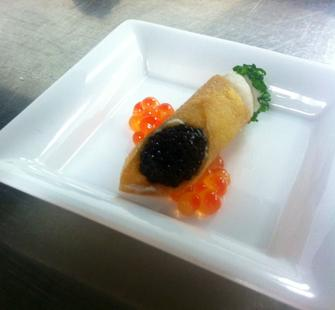 Smoked Sturgeon Cannoli from Peter Armellino of Plumed Horse