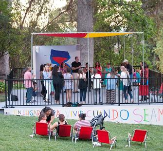 """Ana Gallardo's """"A Place To Live When We Are Old"""" on the Great Lawn"""