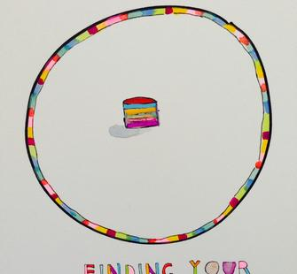"Leah Rosenberg, Sketch for ""Finding Your Center,"" 2014"