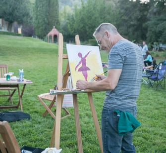 Painting at Montalvo