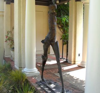 "Stephen De Staebler, ""Deep Striding Woman"" (2010)"