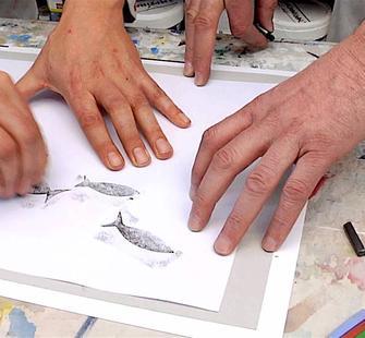 Imaginative Textures: Graphite Rubbing