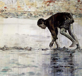 A work by artist Hung Liu