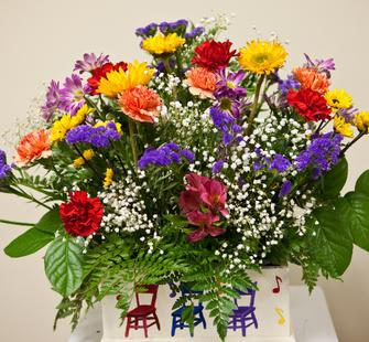 A spring flower arrangement