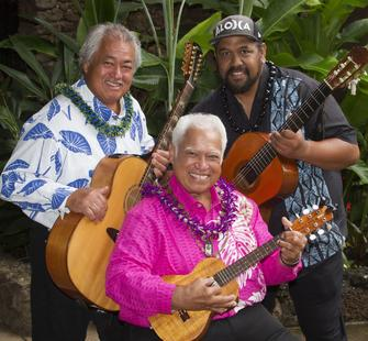 George Kahumoku, Jr., Uncle Richard Ho'opi'i, and Kawika Kahiapo