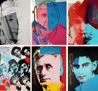 "Andy Warhol, ""Ten Portraits of Jews,"" part of the Hyatt private collection"