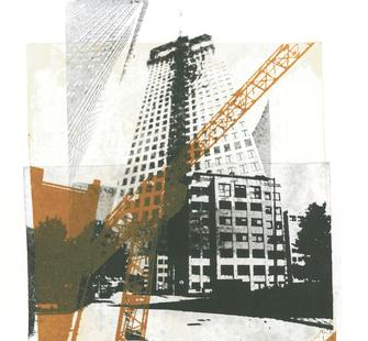 "Hilly van Eerten, ""The Hague city nr 3."" (Monotype print, 2012)"